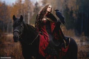 horseback-raven